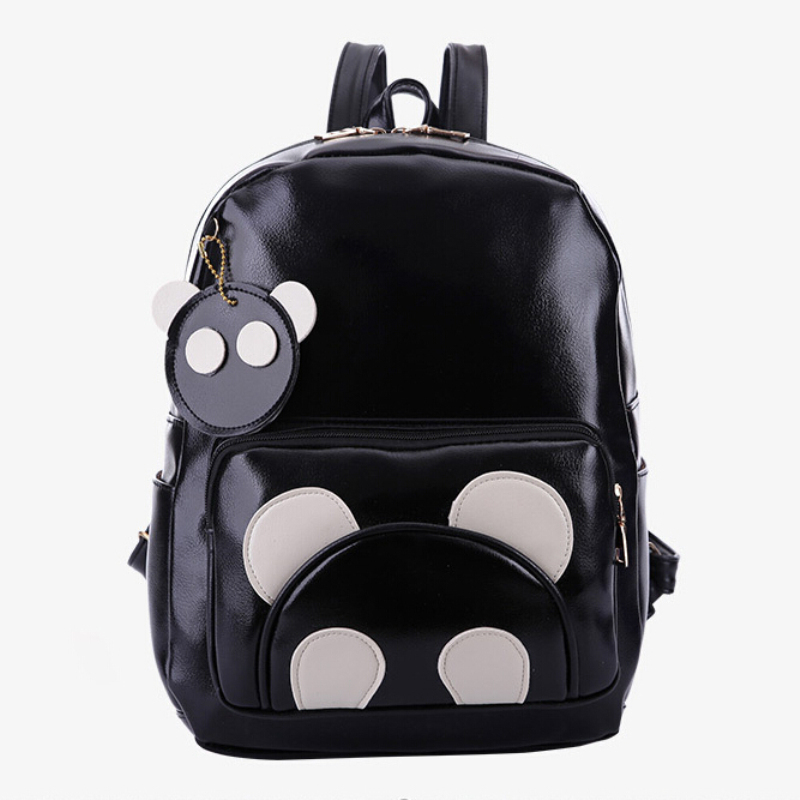 2015 New Arrival Women Casual Cartoon College Leather Backpacks Mochila Outdoor Brand Travel School Bags Backpack for teenagers
