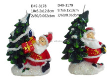 Christmas santa tree shape candles