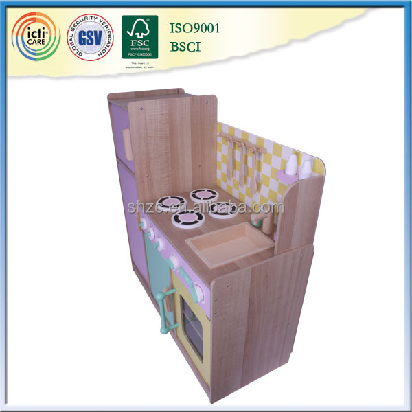 Wholesale children wooden toy of kitchen design set