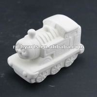 DIY Train Bisque Ceramic Figurine Unpainted