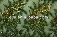 sequins embroidery fabric for clothing material in 2015