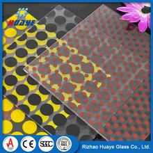 Directly factory black toughened ceramic frit glass