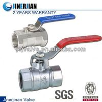two piece stainless steel high pressure 1000 WOG ball valves