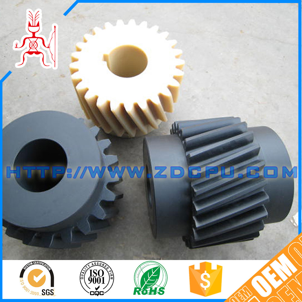 Fashion flat small abs plastic ring gear