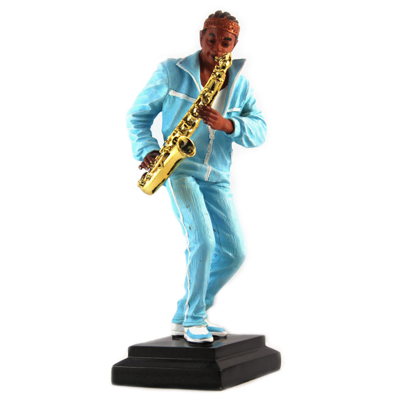 2014 hotsale resin musicians statues playing saxophone