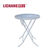 New Product Tempered Glass Top Folding Dinning Table T-12