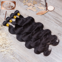 Alibaba Stock Price Hot Sale Grade 7A Virgin Hair Body Wave Black Natual Peruvian Human Virgin Hair