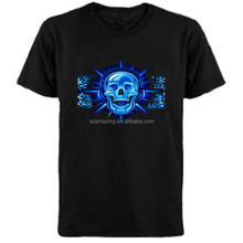 EL T-Shirt Sound Activated Flashing T Shirt Light Up Down Music Party Equalizer LED T-Shirt