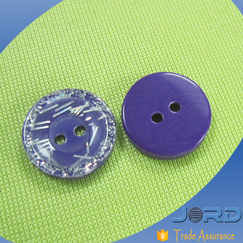 Quality warantee New design unique style colored shirt buttons, multicolored resin glitter shank button for baby sweater