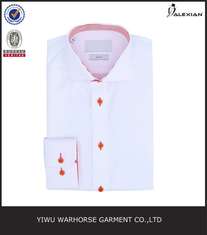 Spread collar cotton stylish dress shirts men