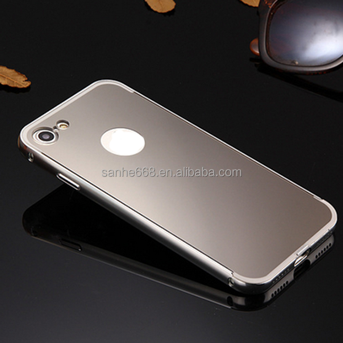2017 best price classical metal aluminum bumper mirror phone case for <strong>iphone</strong> 7 for <strong>iphone</strong> 7 plus