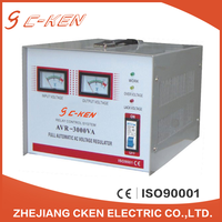 Cken Low Price AVR 3000 5000VA Single Phase Relay Type AC Automatic Voltage Stabilizers 3KVA 5KV Voltage Stabilizers