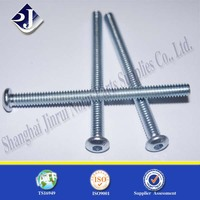 Made In China Professional Zinc Plated Hex Socket Screw With Botton Head