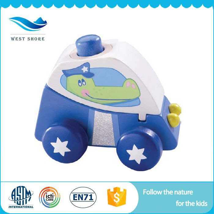 Factory Wholesale gift items for children montessori materials in china Wooden Car Toy Oem