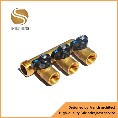 forged 4 way pex pipe brass manifold for underfloor heating