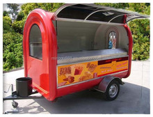 2015 China mobile used food cart vans, ice cream crepe cart/street food vending trailer for sale with CE