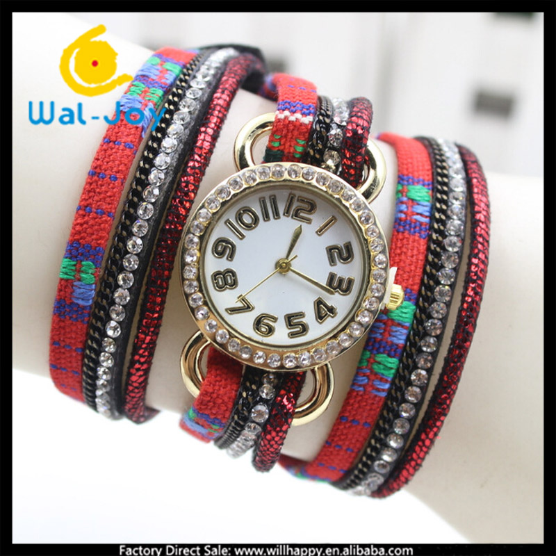 WJ-4815 colorful cheap pretty 2016 fashion quartz attractive women wrist bracelet watch