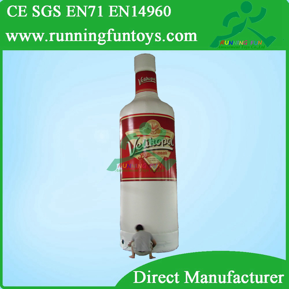 Hot sale Custom Made Giant Inflatable Bottle, Inflatable Wine Bottle