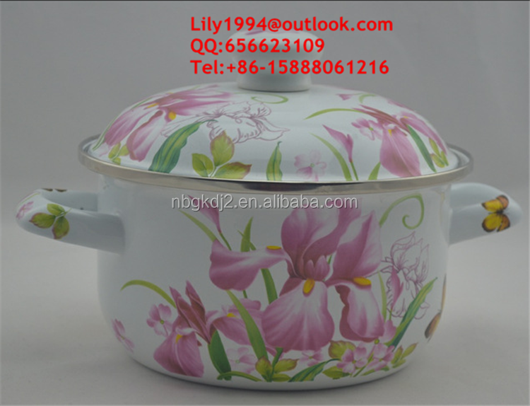 German popular non-stick porcelain enamel steel cookware