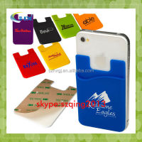 wholesale 3M Cellphone Sticker Silicone Smart Wallet with stand