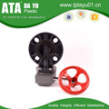 DN50-DN400 big size pvc pipe fittings butterfly valve handwheel