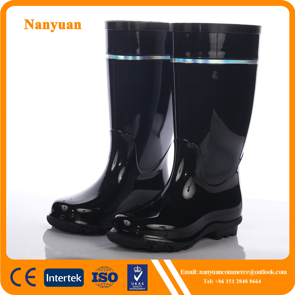 Industrial PVC Water Boots With Reflective Tape