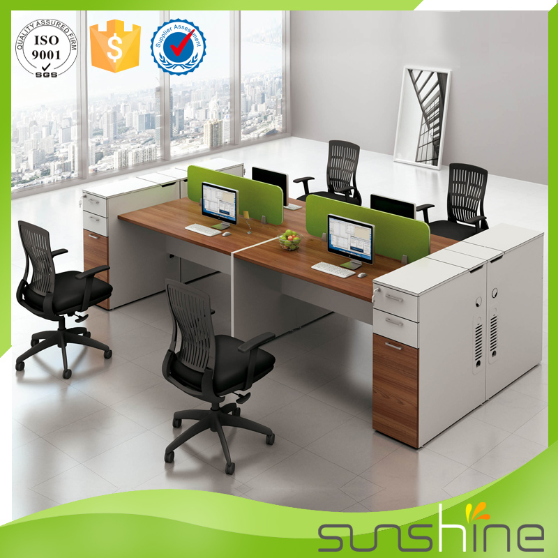 Office Furniture Staff Room Use Face to Face 4 Seat Screen Workstation Desk YS-SW10