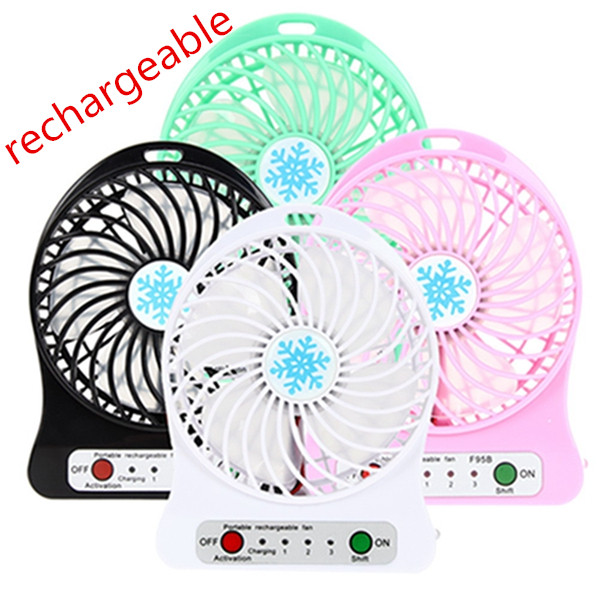 plastic air battery power portable cooling travel handy usb small rechargeable mini fan