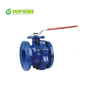ANSI 125 150 ductile iron flanged ball valve with pin
