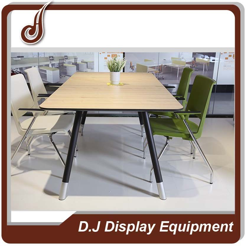 Retail store customized size MDF with melamine finish material display meeting table conference