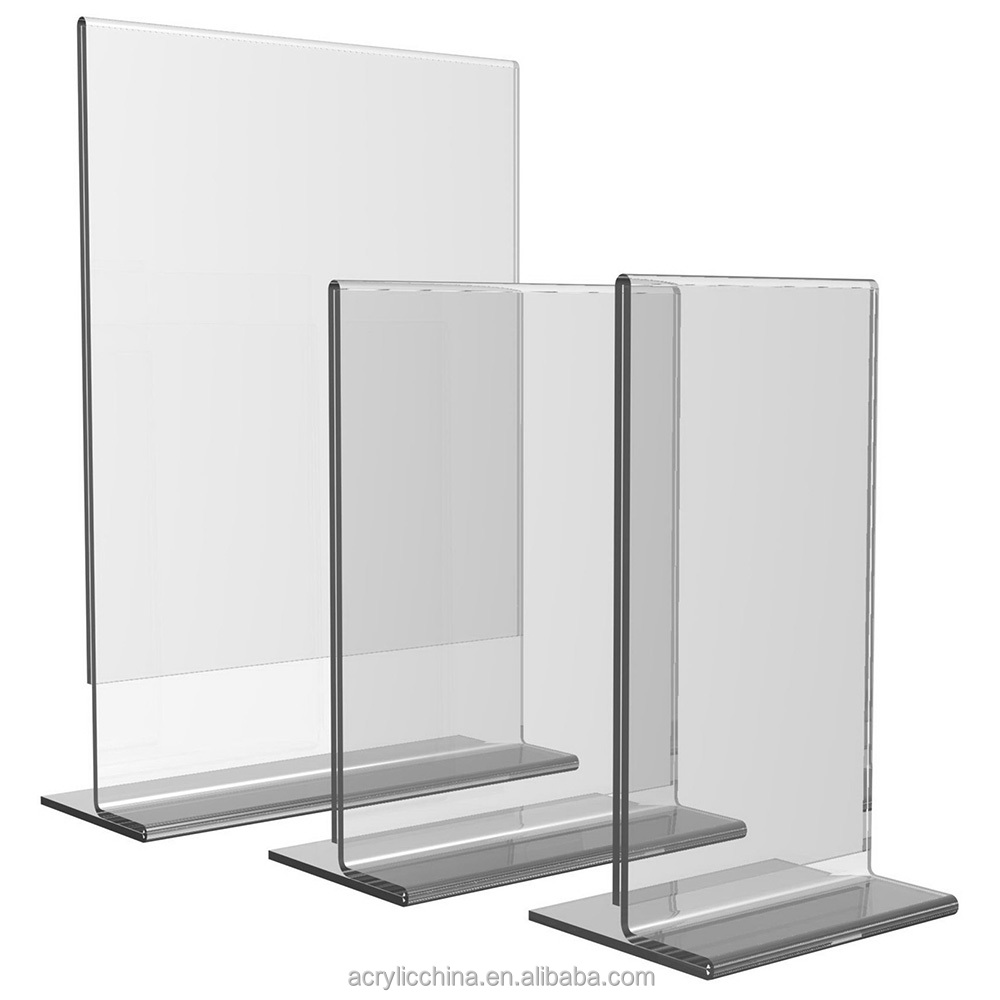 Vertical paper display stand,clear acrylic a4 a5 paper holders display stand