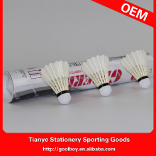 Wholesale quality natural Class A Goose feather badminton shuttlecock OEM