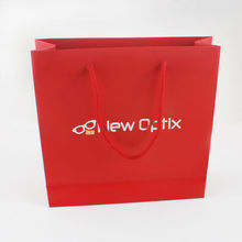 Red paper bags with cord handle bags factory