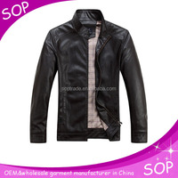 2015 new design stand collar cool mens moto jacket wholesale china supplier
