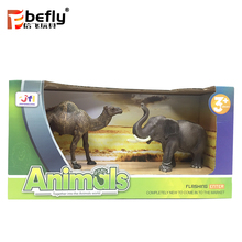 Camel elephant model realistic zoo animals plastic toy for children