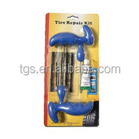 9 pcs emergency tire repair tools kit with insert tools