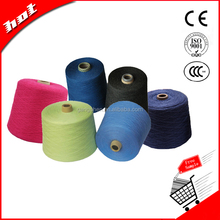 The best selling colorful different counts regenerated polyester cotton blended t shirt yarn for knitting machine