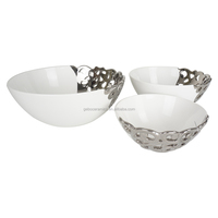 Wholesale Wedding Charger Ceramic Bowl Silver