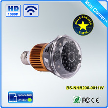 Wifi IP Light Bulb 1080p Wireless Spy Cam HD Hidden Camera