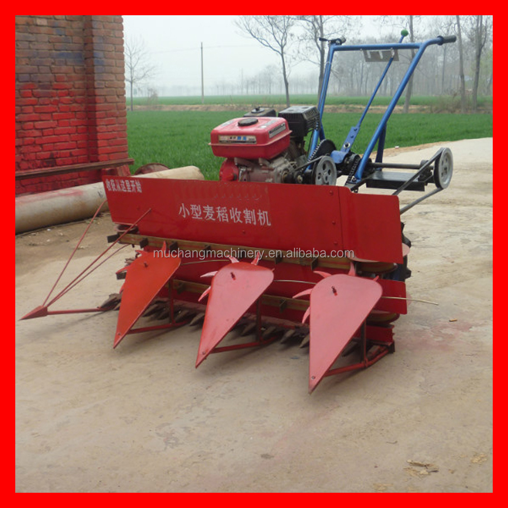 Tractor mounted mini wheat and rice harvest machine