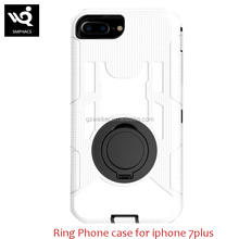Full Protected Silicone PC Ring Magnetic Phone Case Cover Shockproof Hard Armor Case For Iphone 7plus