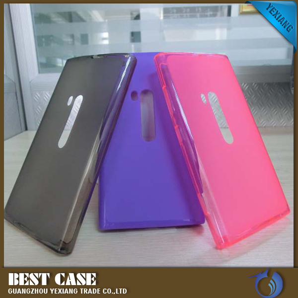 High quality jelly tpu gel back cover housing for nokia lumia 920 case