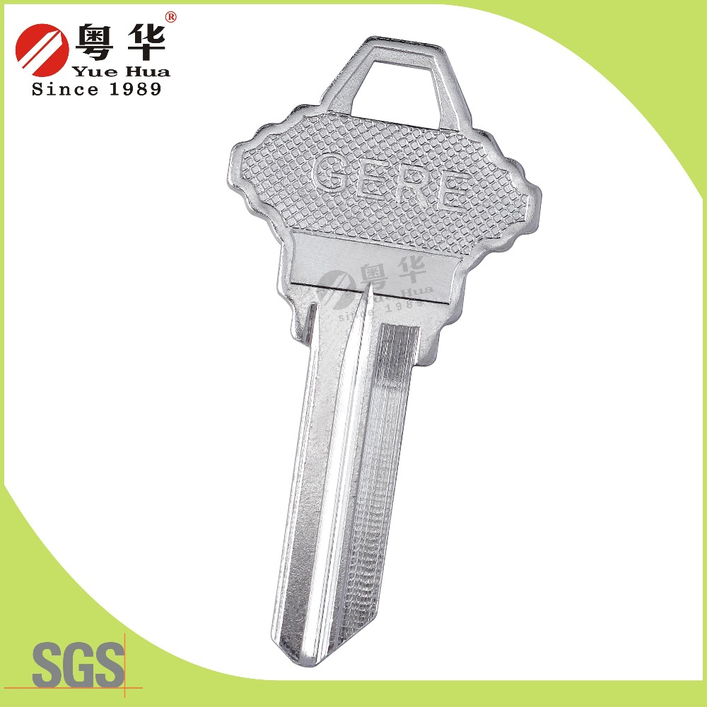 Nickel white titanium house blank key from recent 30 years' factory High quality and inexpensive