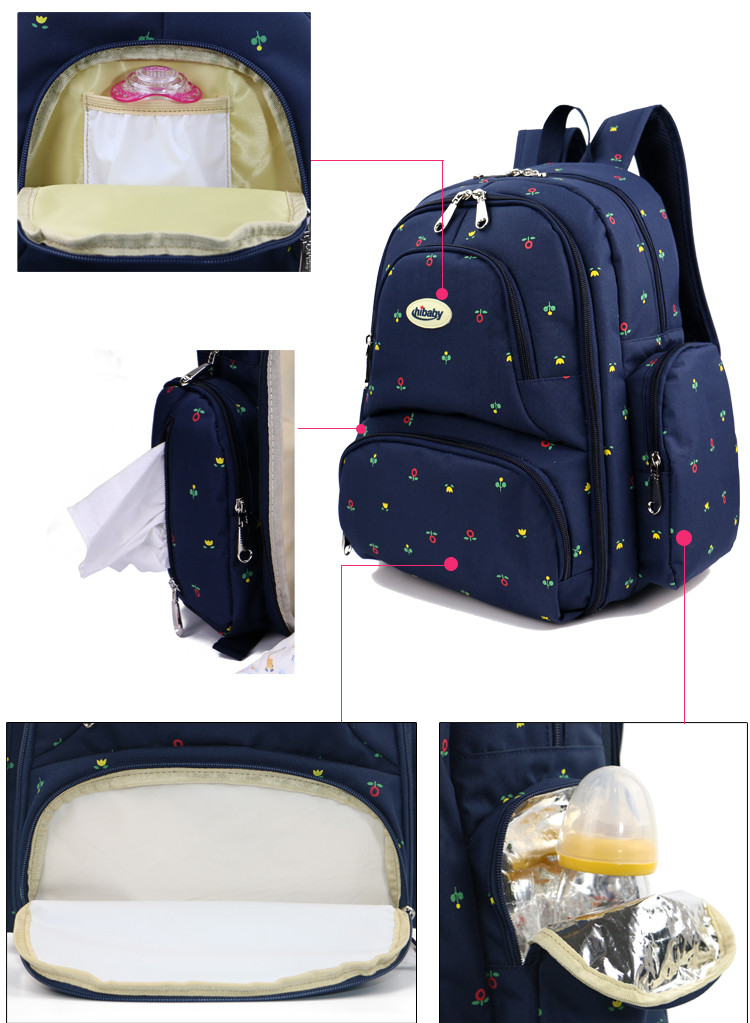 2016 fashion Hot sale high quanlity aardman Oxford multifunctional adult diaper nappy backpack for mother HY-1208