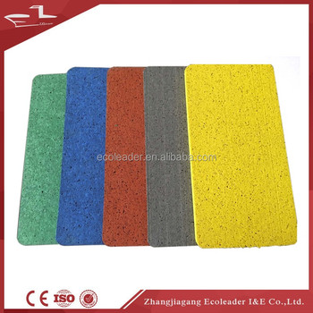 Colorful EPDM granules composited crossfit rubber floor mat