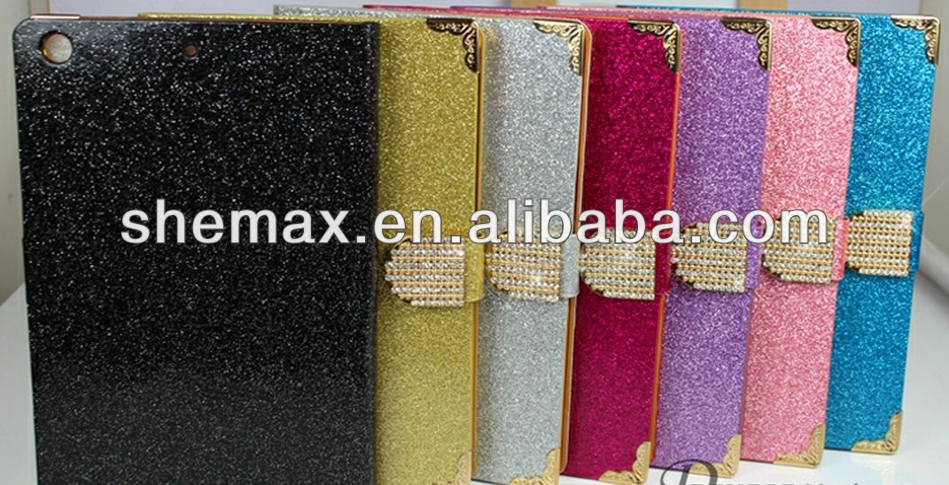 Universal tablet case Bling Diamond Wallet Case For iPad Mini 2