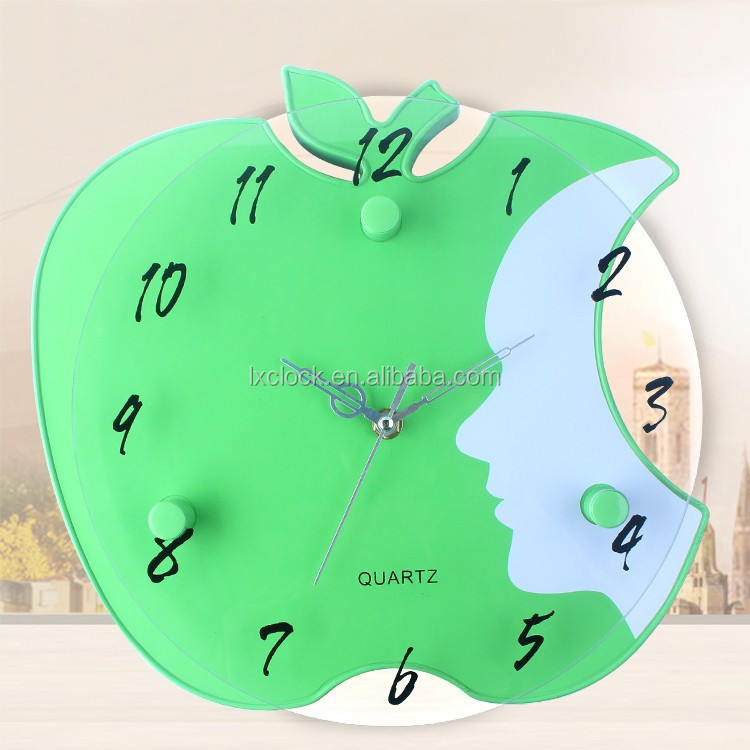 High quality wall clock with apple shape