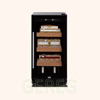 JF-28C 88L,load 400 pcs CB&CSA available can add water blue LED display cigar cases