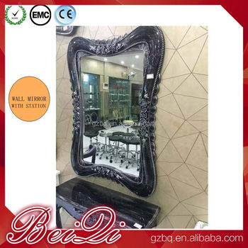 Hair Salon Wall Mounted Mirror Salon Furniture Mirror Station Styling Make Up Mirror
