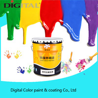 Digital Color alkali resistant transparent exterior wall paint primer coating